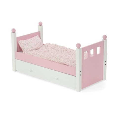beds for baby dolls american girl doll bed trundle bedding emily rose 18 inch