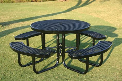 metal picnic tables rhino thermoplastic steel picnic table ship