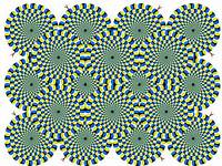 Optical Illusion Spinning Spirals Moving Circles Optic Illusions