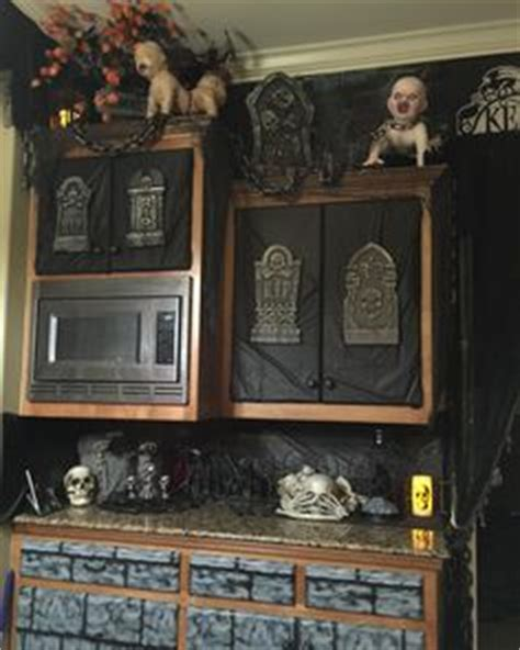 spooky halloween creepy kitchen decorations making the most haunted room at home mykitcheninterior halloween cemetery something different with net lights by