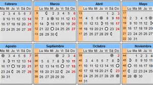 Calendario Para Embarazo Calendario Lunar Embarazo 2017 Calendarios De Embarazo