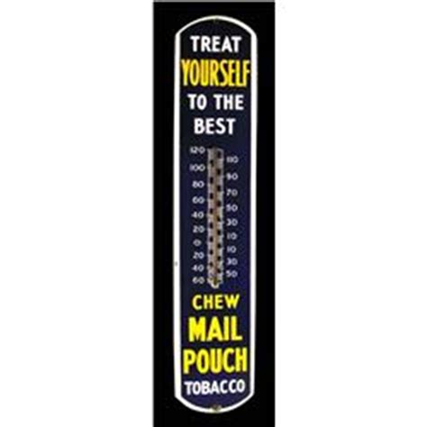 mail pouch tobacco porcelain thermometer lot 185 mail pouch tobacco thermometer