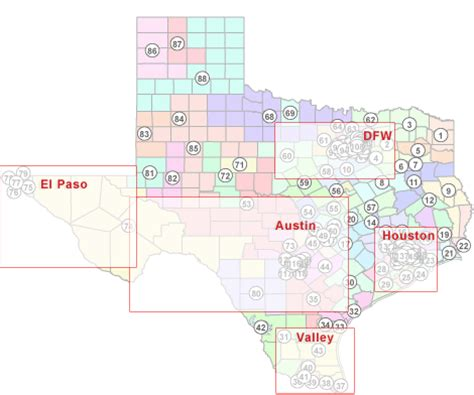 texas state house district map texas politics texas state house districts 2003 2012