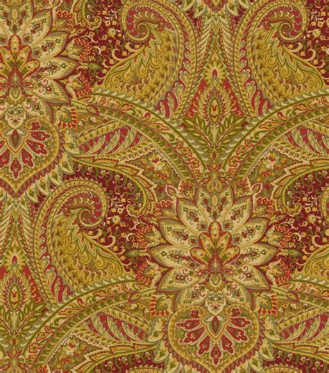 home decor print fabric waverly toraja crimson jo