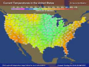 weather united states map temperature map for the united states