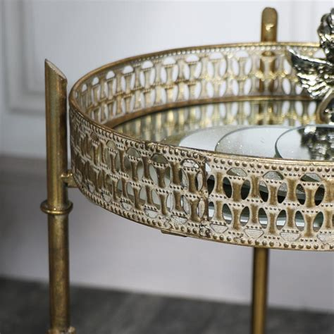 Mirrored Tray Table by Vintage Gold Mirrored Tray Table Melody Maison 174