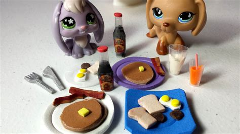 how to make food how to make lps food breakfast pancakes syrup bottle more doll diy