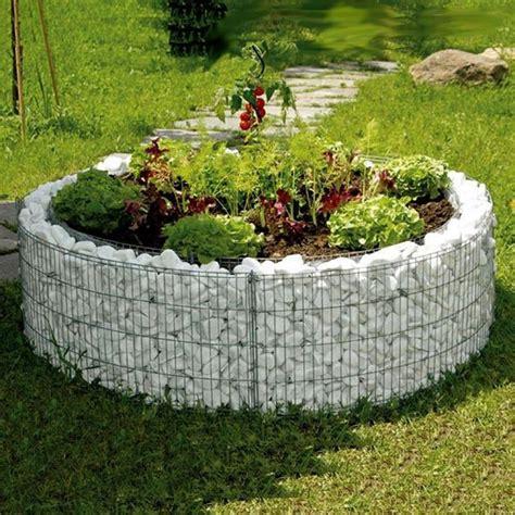 aiuole giardino gabbioni metallici per aiuole fiorite giardino e orto