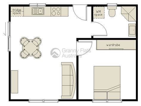 1 bedroom floor plan granny flat 1 bedroom granny flat archives granny flats australia
