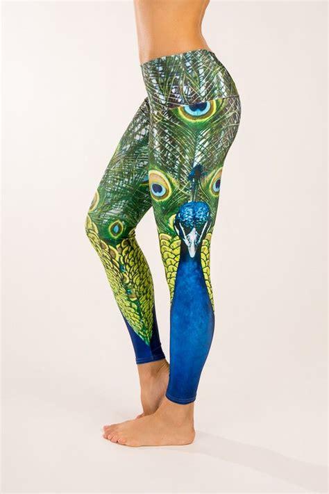 peacock pattern yoga pants peacock yoga pants fitness fashion pinterest