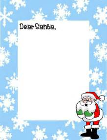 Letter To Santa Template by Coloring Pages