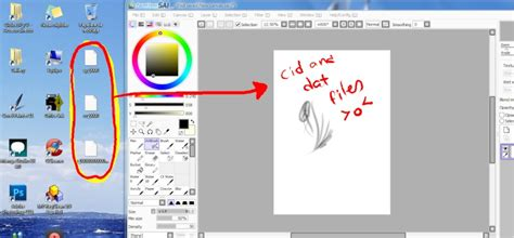 cã ch paint tool sai problem troublesome cid and dat files in my desktop