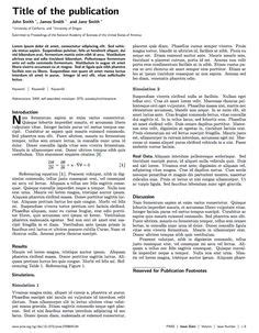 Scientific Reports Latex Template