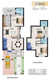 6 Marla House Plans Civil Engineers Pk