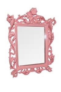 Pink french shabby chic wall mirrors bathroom