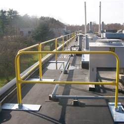 portable handrail system osha compliant yellow rooftop guardrail safety railing