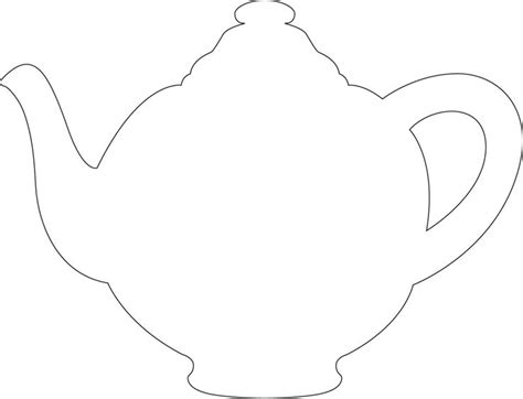 free printable teapot templates tea party bridal shower invite idea teapot template