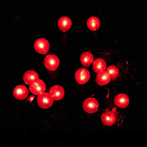 red cherry lights christmas berry mains indoor