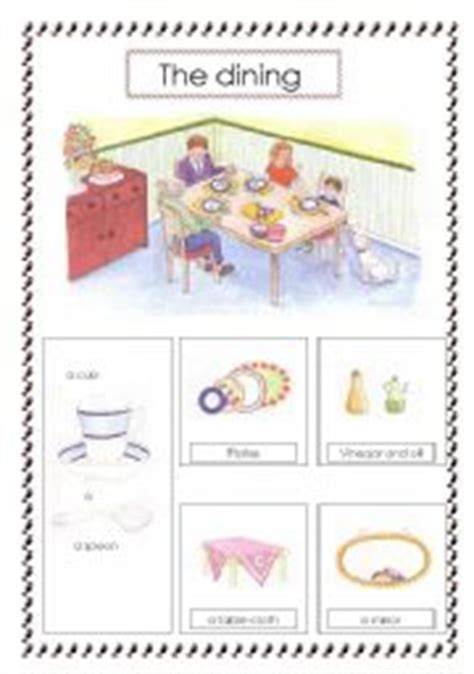 Things In The Dining Room by Things In The Dining Room Worksheet Www Pixshark