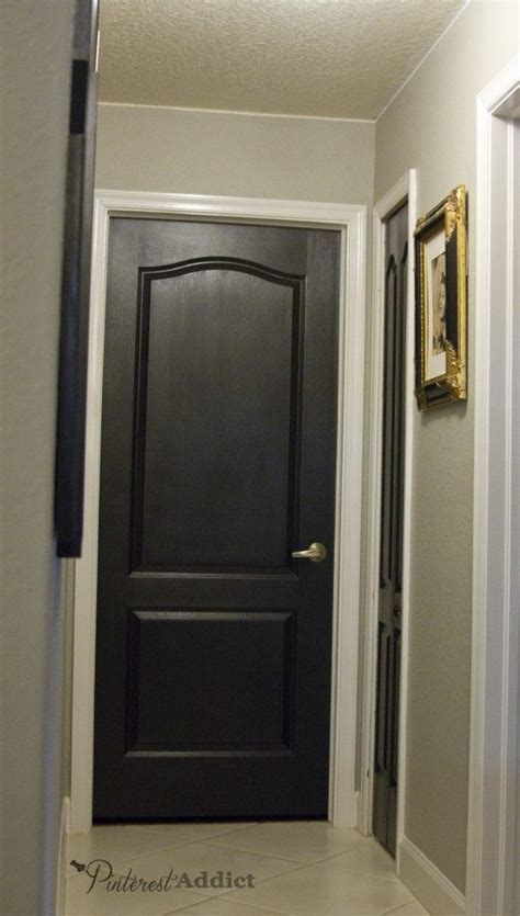 White Interior Door Painting The Interior Doors Black White Interior Doors The Doors And Taupe Walls