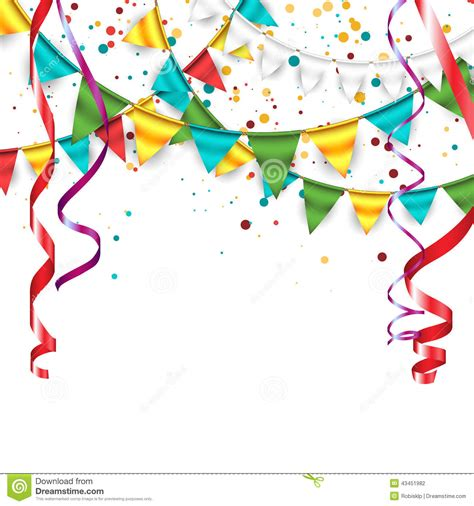 new year bunting vector happy birthday background stock vector illustration of