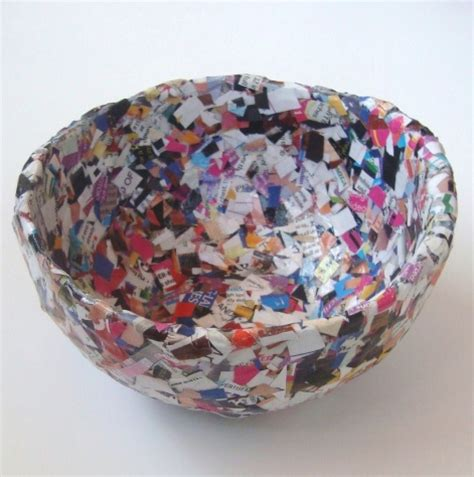 How To Make Paper Bowls From Magazines - confetti magazine bowl think crafts by createforless
