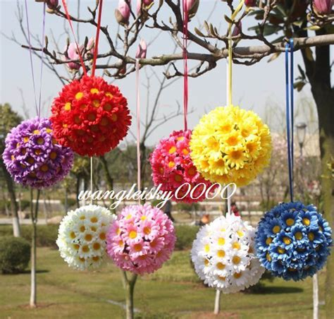 flower decorations silk daisy flower ball gerbera flower wedding party