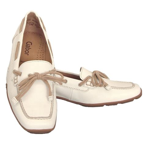 white leather loafers womens gabor shoes obern womens loafer shoe in white leather