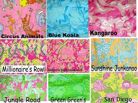 lilly pulitzer vintage pattern names 77 best images about lilly pulitzer print names on