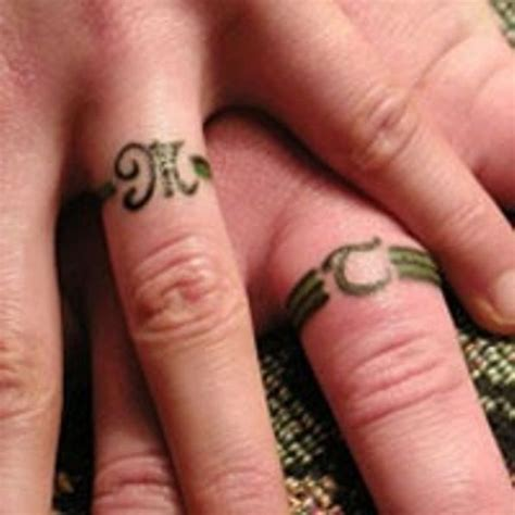 tattooed wedding rings the trend for modern couples the wedding ring