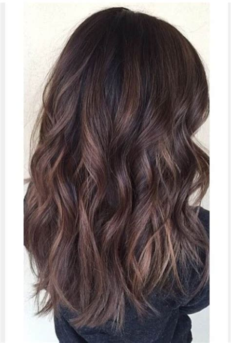 balayage highlights on dark brown hair dark hair balayage pinterest dark brown hairs
