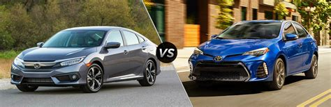 Toyota Vs Honda 2017 Honda Civic Vs 2017 Toyota Corolla