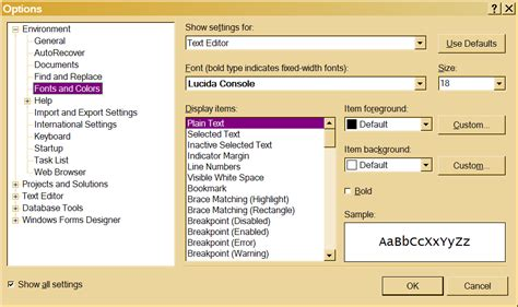 reset visual studio 2008 settings command change font size and style in visual studio 2008 stack