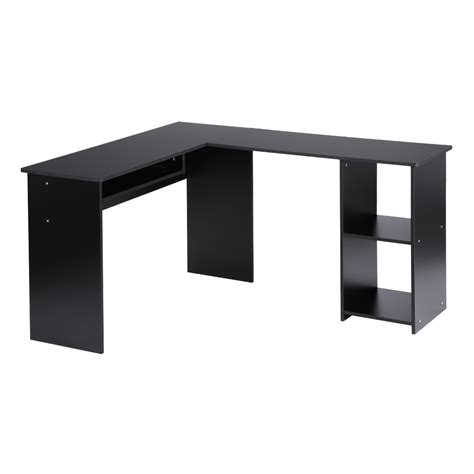 L Shape Corner Desk Computer Pc Corner Desk L Shaped Home Office Laptop Table Furniture Workstation Ebay