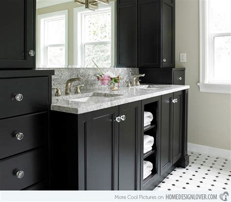Bathrooms With Black Vanities 15 Black Bathroom Vanity Sets Home Design Lover