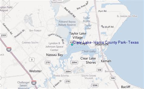 clear lake texas map clear lake harris county park texas tide station location guide