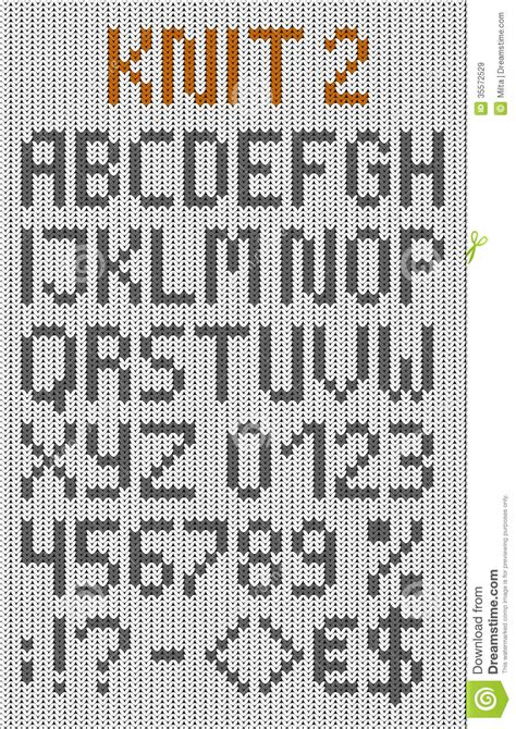 letters in the alphabet knitted uppercase alphabet stock vector image 1459