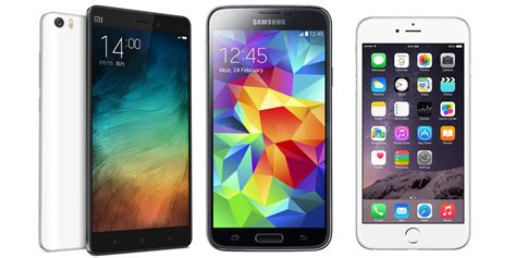 xiaomi mi note vs samsung galaxy s5 vs apple iphone 6 specs comparison