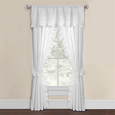 window curtain tie backs smoothweave ruffled window curtain panels with tie backs