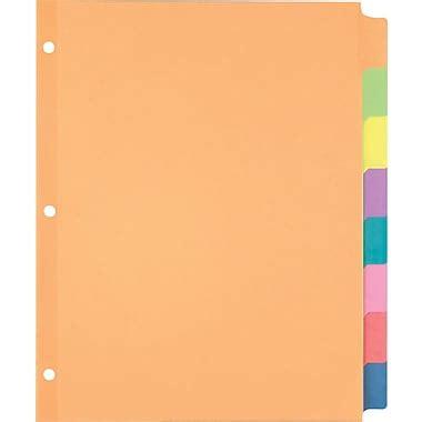 staples 174 large tab writable dividers 8 tab set