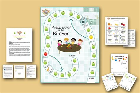 Printable Kitchen Games | cooperative game prinatable game preschooler game