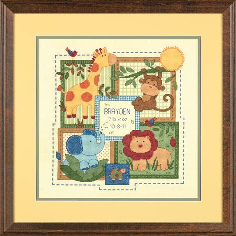 Record Birth By One Dimensions Baby Birth Record Counted Cross Stitch Craft Kit Select Your Design Ebay