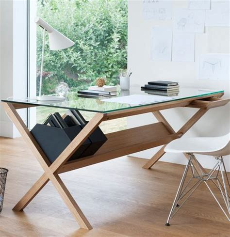 minimalist work desk beautiful wood and glass work desk in bright minimalist