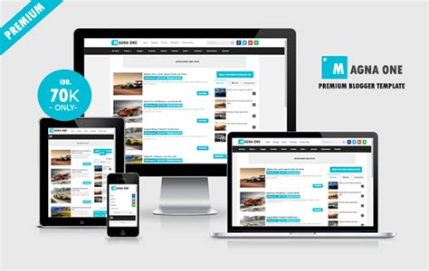magna one premium responsive blogger template dunia blanter