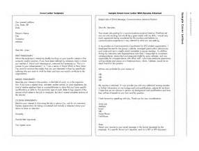 Emailing A Resume And Cover Letter by Sle Email Cover Letter With Resume Attached Free