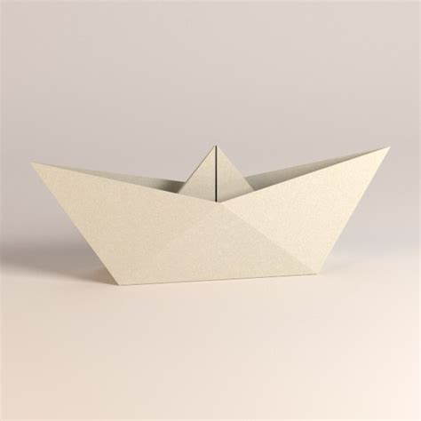 How To Make Paper Ship Model - paper boat 3d model