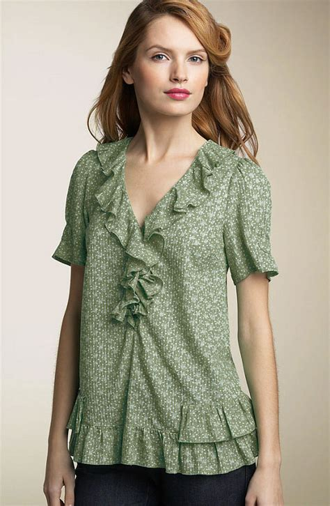 Kirana Frill Top Blouse 1 models of blouse designs june 2013