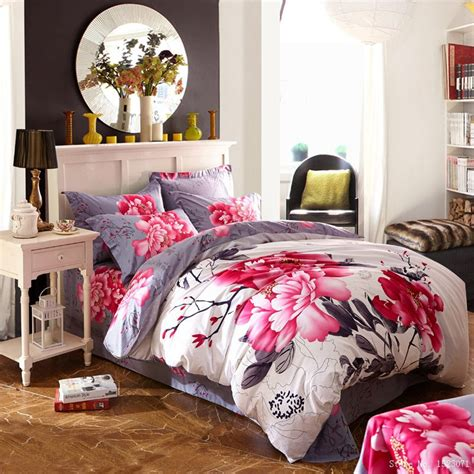 Cherry Blossom Bedding Set Aliexpress Buy Cherry Blossom Sunflower Bedding Set Princess Bed Linen Purple