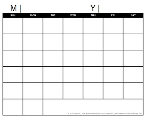 printable empty monthly calendar blank calendar template free printable blank calendars