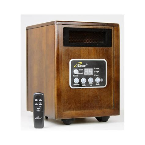 portable room heater iliving ilg918 infrared portable space heater with dual heating system 1500w remote